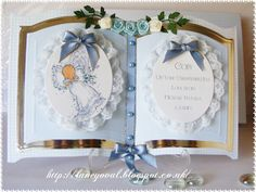 baby boy baptism - Open Book Card