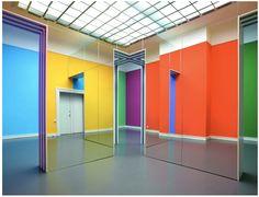Daniel Buren at Kunsthalle Baden-Baden, 2011.