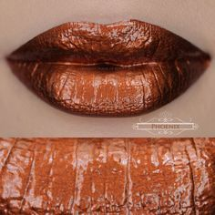 Phoenix: A fiery, metallic burnt copper with black undertones.Finish:Sets To A Foiled Satin Finish