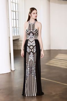 65b5b0e44a4 MARCHESA NOTTE BLACK SLEEVELESS SEQUIN EVENING GOWN.  marchesanotte  cloth    High Fashion