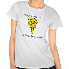Can you hear this finger? t-shirt