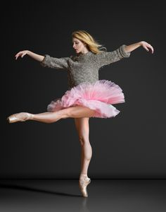 Shannon Quirk, Madison Ballet, Madison, Wisconsin, USA - Photographer Brian Jaime love her grey sweater and pink tutu Shall We Dance, Lets Dance, Dance Photos, Dance Pictures, Dance Like No One Is Watching, Learn To Dance, Ballet Photography, Tiny Dancer, Ballet Beautiful