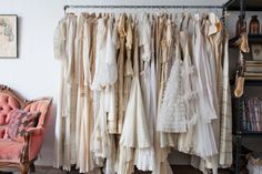 All lined up: these ruffly, linen-and-lace dresses in natural hues are my kinda clothes! (Little Emma English Home)