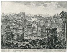 Вид Коровьего Поля. Гравюра Д. Б. Пиранези (1720—1778). 455 × 545 мм.