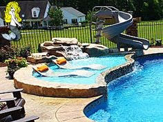 Tallman Pools - Inground fiberglass pools and spas. Proudly offering the new stunning Diamond Tech colors and 50 year warranty on every swimming pool. The best quality fiberglass pools in the industry. Backyard Pool Designs, Small Backyard Pools, Swimming Pools Backyard, Swimming Pool Designs, Pool Landscaping, Outdoor Pool, Small Pools, Lap Pools, Indoor Pools