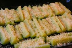 Parmesan Encrusted Zucchini Recipe (Low-Carb, Gluten-Free, South Beach ...