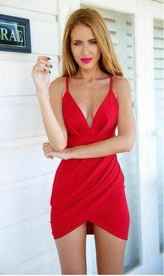 Find More Dresses Information about Free Shipping 2016 Sexy Red Deep V Collar  Mini Women Summer Dress Bodycon Beach Dress Nightclub Dress De Vestidos 50808,High Quality dress straight,China dresses com Suppliers, Cheap dresses dress from Queen's Luck on Aliexpress.com