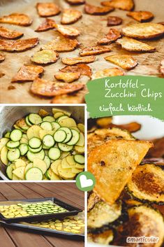 Chips selber machen, so einfach geht's! Klassisch aus Kartoffeln oder Zucchini The evening snack is unhealthy and makes you fat quickly. You can easily make delicious and healthy potato chips and zucchini chips yourself. High Protein Recipes, Healthy Protein, Healthy Snacks, Healthy Recipes, Healthy Chips, Zucchini Chips, Evening Snacks, Evening Meals, Cereal Recipes