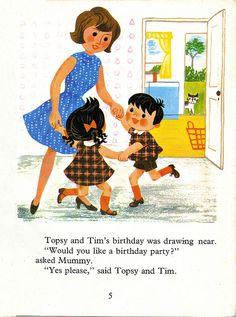 Topsy and Tim's Birthday Party Jean & Gareth Adamson 1968