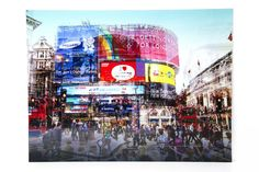 Add a striking presence to your home by choosing this Yosemite Home Decor Amusement Artwork in Tempered Glass Wall Art. Piccadilly Circus, Kare Design, Home Bild, Tableau Pop Art, Circus Art, Michigan Travel, City Scene, Glass Wall Art, Modern City