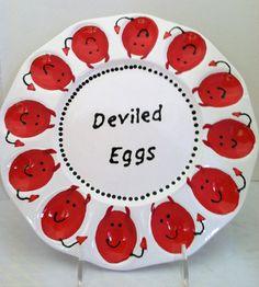 Ceramic Deviled Egg Plate Egg Platter Egg by ShadyLaneCeramics, $35.00