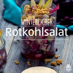 Winterlicher Rotkohlsalat This great red cabbage salad is versatile and crunchy. Peanut Butter Dessert Recipes, Quick Dessert Recipes, Easy Recipes, Potluck Desserts, Red Cabbage Salad, Breakfast Desayunos, Fresco, Salad Chicken, Crispy Chicken