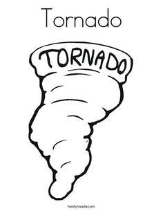 tornado coloring page twisty noodle - Tornado Coloring Pages Printable