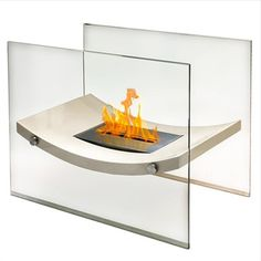 Anywhere Fireplace Broadway Free Standing Bio-Ethanol Fireplace | Overstock.com Shopping - The Best Deals on Indoor Fireplaces