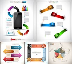 12 Free Vector Infographic Design Elements - Set 4