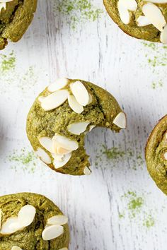 Gluten Free Matcha Muffins for a healthy break or snack!