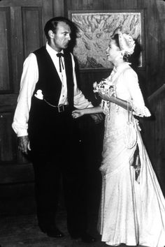 Gary Cooper and Grace Kelly on the set of High Noon