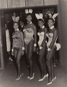 Playboy Bunnies... They still managed to keep some class even in sexy bunny outfits.