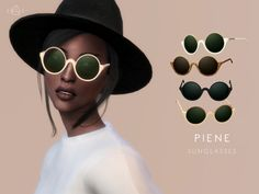The Sims Resource: Sunglasses – PIENE by Starlord • Sims 4 Downloads