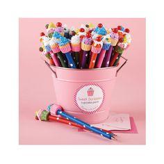 Embout crayon cupcake pâte fimo