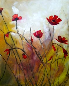 Poppy Flowers Muted