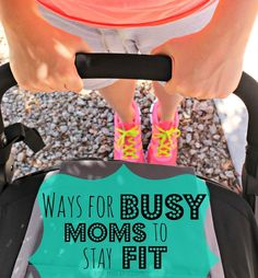 Easy ways for busy moms to stay fit! Forget the boring workout videos if they are not for you and try these ideas for working out with your kids!