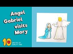 Angel Gabriel visits Mary – 10 Minutes of Quality Time Craft Activities, Preschool Crafts, Crafts For Kids, Christmas Skits, Angel Crafts, Bible Lessons For Kids, Nativity Crafts, Sunday School Crafts, Bible Crafts