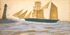 Alfred Wallis, 'Two-Masted Ship' c.1928