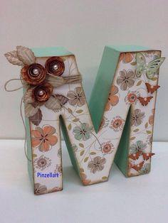 Paper Mache Letters, Letter A Crafts, Wood Letters, Letter Art, Monogram Letters, 8th Grade Art, Alphabet Photography, Butterfly Decorations, Girl Decor