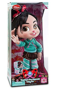 Disney Store Vanellope Von Schweetz Talking Doll Wreck-It Ralph Disney Princess Dolls, Princess Toys, Disney Dolls, Baby Girl Toys, Toys For Girls, Kids Toys, Disney Babys, Baby Disney, Wreck It Ralph