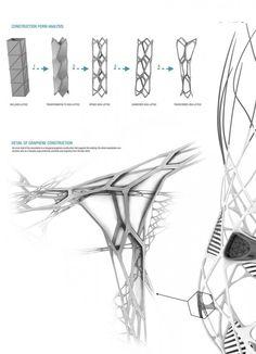Hydra Skyscraper - Tesla research facility Evolo 2011 Parametric Architecture, Parametric Design, Architecture Portfolio, Concept Architecture, Futuristic Architecture, Architecture Design, Architecture Diagrams, Airport Design, Bridge Design