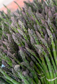Lots of vendors have asparagus this time of year the market. Check out all the different vendors where you can pick some up for yourself on Saturday morning!
