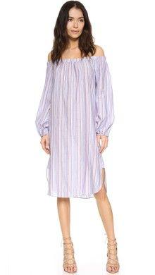 Tanya Taylor Textured Sunset Stripe Brianna Dress | SHOPBOP SAVE 25% Use Code: INTHEFAM