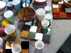 Sotto pentola e bicchieri ceramica Atelier Daniela Levera www.danielalevera.wordpress.com