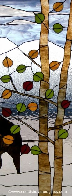 Aspen Stained Glass Window