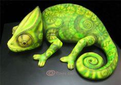 {6th Birthday} Chameleon Cake