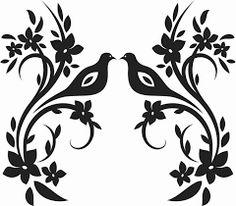Resultado de imagen para stencil plantillas pajaros