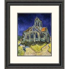 Global Gallery 'The Church at Auvers' by Vincent Van Gogh Framed Painting Print Size: