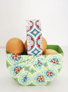 DIY Osterkorb in 10 Minuten