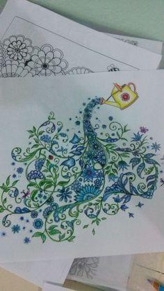 Pintura em lápis de cor