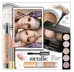 """Metallic"" by frenchfriesblackmg ❤ liked on Polyvore featuring beauty, Christian Dior, Chantecaille, Urban Decay, L.A. Colors, Yves Saint Laurent and Bobbi Brown Cosmetics"