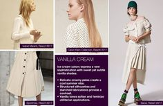 #Trendstop SS17 Womens Color on #WeConnectFashion. Key Essential Theme: Vanilla Cream