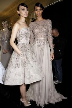 Elie Saab...snowy white and icy