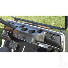 Club Car DS Golf Cart Custom Dash with Locking Glove Boxes & Four Cup Holders - WHEELZ Custom Carts & Accessories  - 1