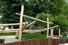 In London at the moment, so posting some UK-based projects. This playscape, by Groundwork West London , won both RHS Gold and the BB. In Ground Trampoline, Backyard Trampoline, Backyard Playground, Backyard Farming, Steep Backyard, Backyard For Kids, Backyard Ideas, Playground Design, Playground Ideas