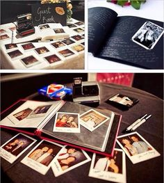 Use Polaroids for guest book