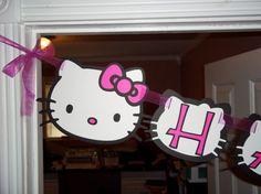 Hello Kitty Happy Birthday Invitations by mimskd on Etsy, $10.00
