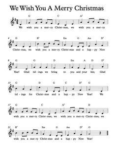 Free Sheet Music - Free Lead Sheets - We Wish You A Merry Christmas