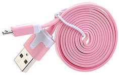 "myLife Soft Rouge Pink {Reliable Flat Noodle Design} 6' Feet (1.8 Meter) Quick Charge USB 2.0 Micro USB to USB Data Sync Cord for Phones, Cameras, Tablets and GPS Devices ""SEE COMPATIBILITY"" (Durable Rubber Coat) myLife Brand Products http://www.amazon.com/dp/B00NX3EGV0/ref=cm_sw_r_pi_dp_kQ9tub1CG6XXD"