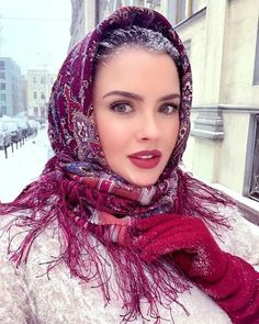 Russian Beauty, Russian Fashion, Winter Maternity Outfits, Muslim Women Fashion, Islamic Girl, Head Scarf Styles, Stylish Dpz, Foto Pose, Boho Look